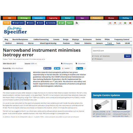 SEP review MPB mesuring instruments
